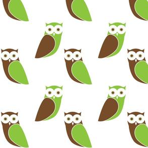Modern Owl Friends - White Background