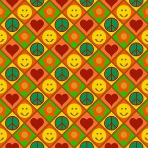 smile,peace,love and flower-orange