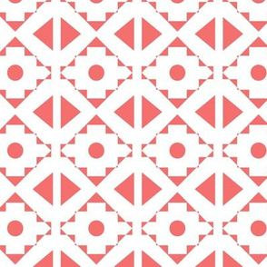 Tribal - Coral on white