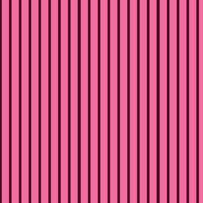Wide pink stripes on narrow dark brown stripes.