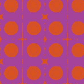 XOXO/purple & orange