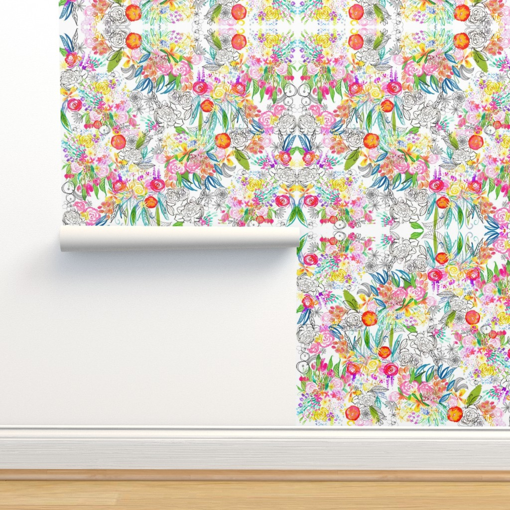 Botanical Sketchbook Large Scale Print On Isobar By