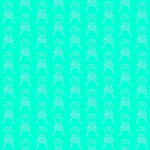 garden chairs in turquoise