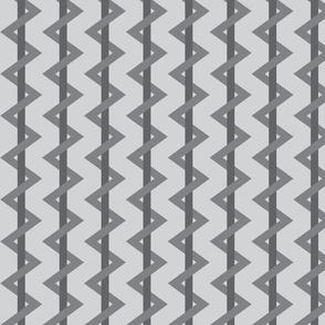 Stripe Chevron Gray