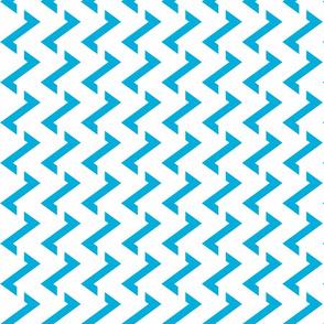 Stripe Chevron white - white - blue