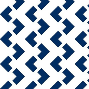 Chevron nested two frequency white - navy