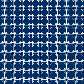 square knot navy - white