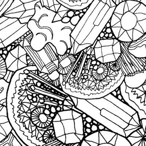 Gemstones and Geodes colour-in-wiccked