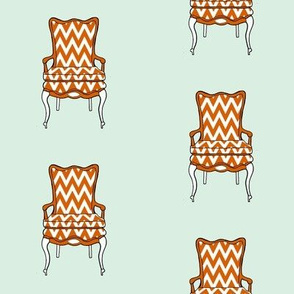 Vintage chair with chevrons
