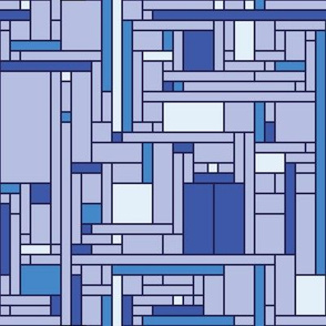 Mondrian Blue Box (blues)