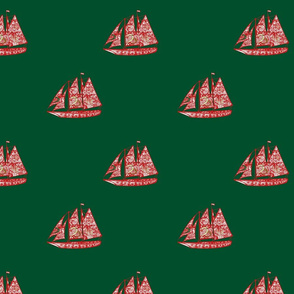 I saw three ships come sailing in on Chrismas Day -- The Paisley Trader in Christmas colors