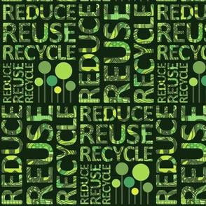 Reduce Reuse Recycle Forest Green