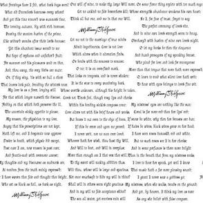 Shakespearean Sonnets Alt. White
