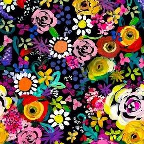 Les Fleurs // Black (Medium Size)