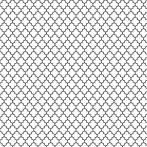 quatrefoil dark grey on white - small