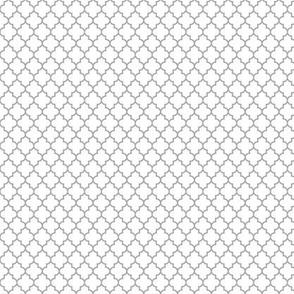quatrefoil grey on white - small