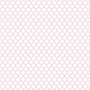 quatrefoil light pink on white - small