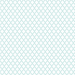 quatrefoil light teal on white - small