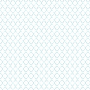 quatrefoil ice blue on white - small