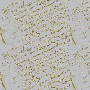 French Script Grey background