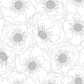 White Anemones - SILVER