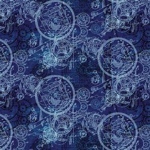 Clockwork Collage Blue