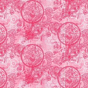 Clockwork Collage Pink
