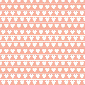 pixel hearts and lines
