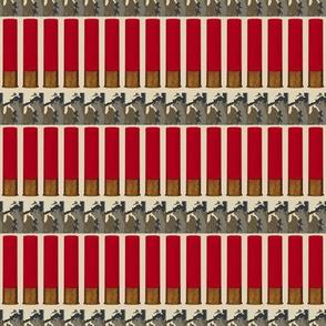 Red Shotgun Shell Ammo Bandolier Tan Camo