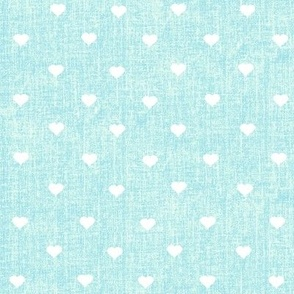 hearts on mint textured background