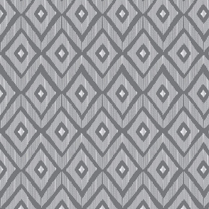 Ikat grey and white
