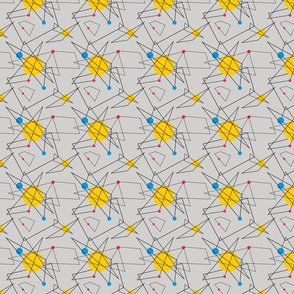 Angular Geometric Retro Pattern