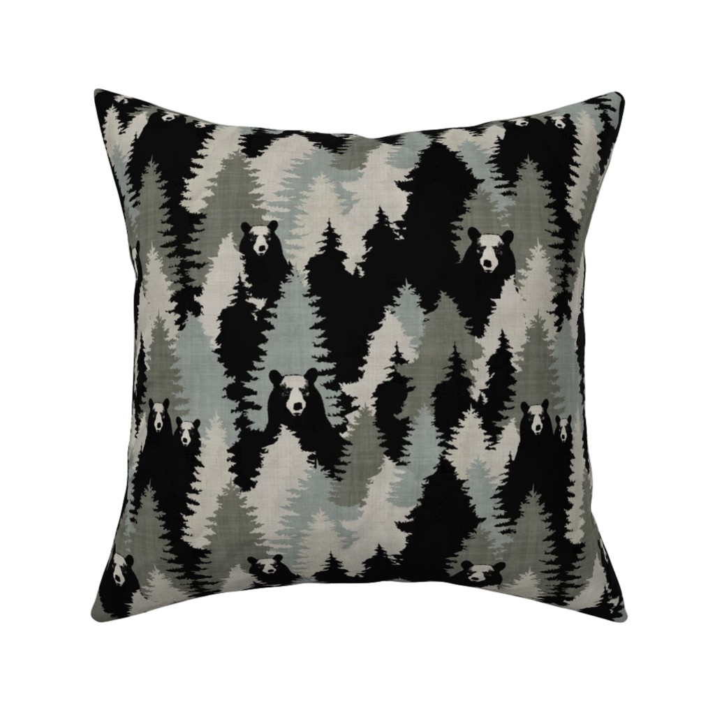 Catalan Throw Pillow featuring Bears - Texture by kimsa
