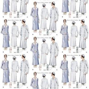 Vintage Nurse Sewing Uniforms