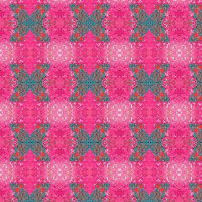 Teal Mouse Quad Hot Pink