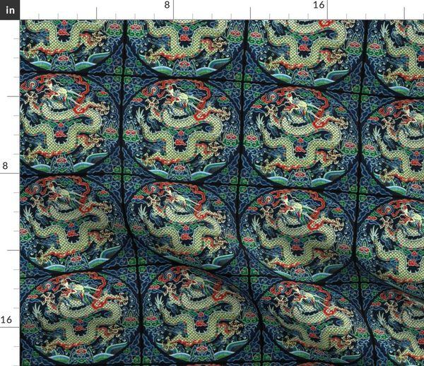 Tissu Au Mètre Oriental Asiatique Chinois Broderie Japonais Kimono