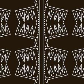 Western Podillyan Black & White Line Dot Munchies