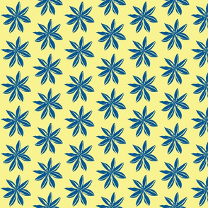 Romulea blue on cream-ch