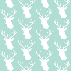 Stag Deer head pattern on mint