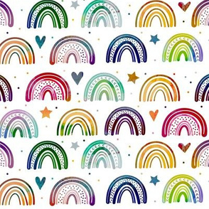 Colorful Watercolor Rainbows pattern
