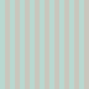 Sea Glass Blue and Grey Vertical Stripes