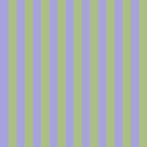 Violet Lavender and Soft Spring Green Vertical Stripes