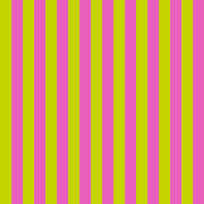 Lime Green and Hot Pink Preppy Stripes