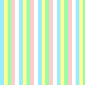Shabby Cottage Baby Vertical Stripes
