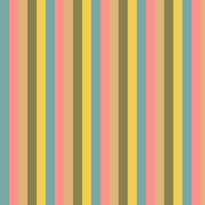 Vintage Easter Vertical Palette Stripes