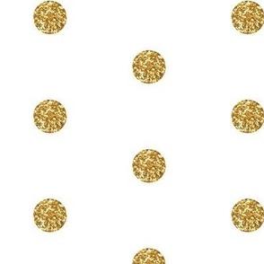 Polka Dot in Gold Glitter