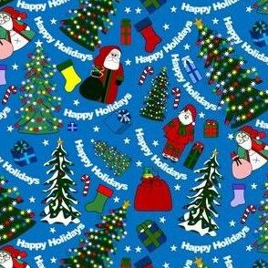 Winter Trees and Christmas Tree Fabric