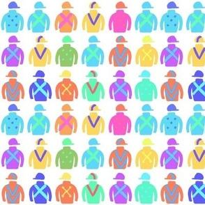 Colorful Jockey Silks - Small Repeat