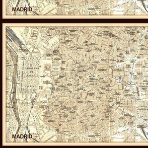 vintage Madrid map
