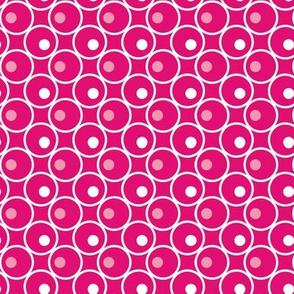 Circle and a Dot - Hot Pink